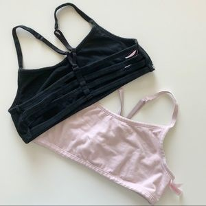 2 PINK Victoria's Secret strappy bralette's